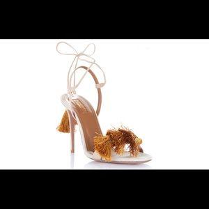 NET-A-PORTER AquazzuraxJohanna Ortiz fringe heels